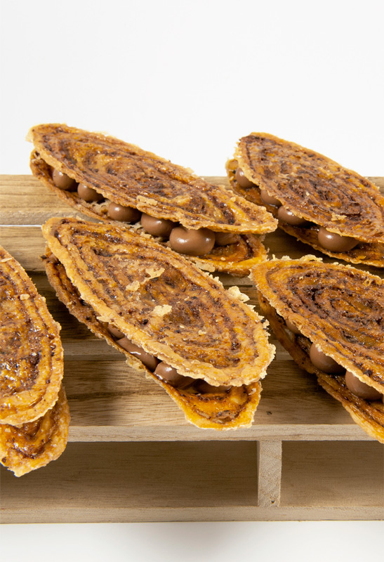 Arlettes de cacao et gruyère